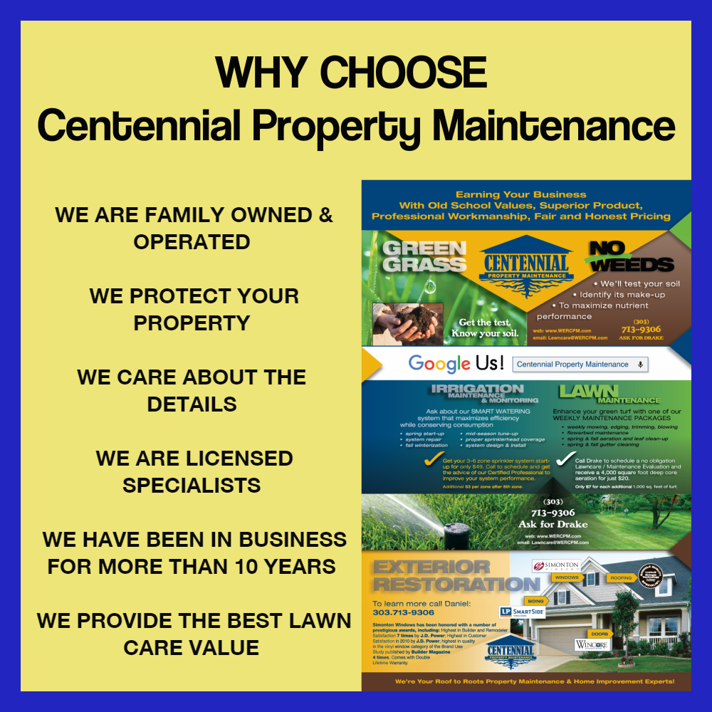 Willow Creek Lawn Care Maintenance by Centennial Property Maintenance (303) 713-9306